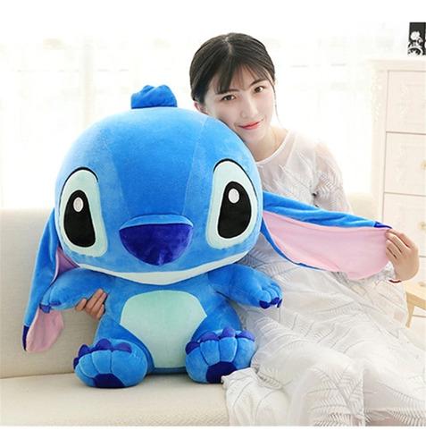 Imagem 1 de 5 de Pelúcia Lilo Stich 65cm Azul Presente Bebê Neném Crianças