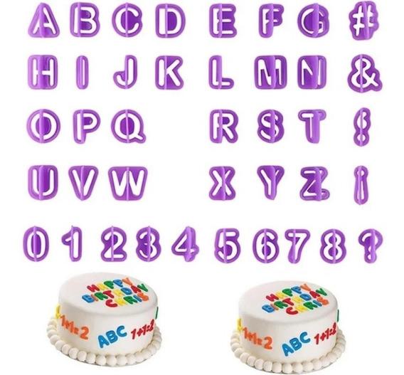Cortador Letras E Numeros Alfabeto 40 Peças F 239 Promocao