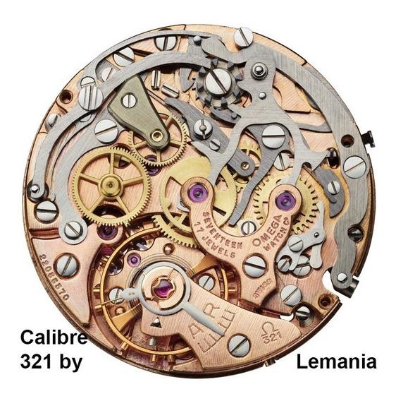 Cronógrafo Lemania/omega 321 Speedmaster Sem Uso Nos