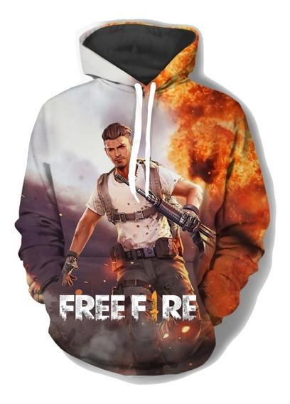 Moletom Free Fire Escolh Apelido Blusa De Frio Jogo Canguru