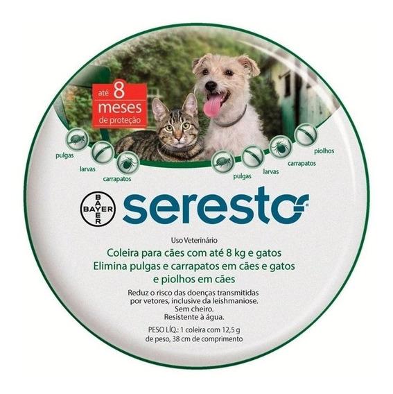 Coleira Antipulga Seresto Cães Gatos 8kg Original Nacional