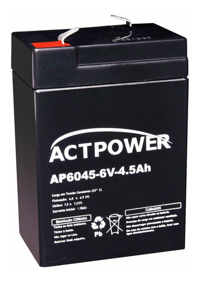 Bateria 6v4.5ah/20hr Brinquedo Elétrico Bandeirantes Alarmes