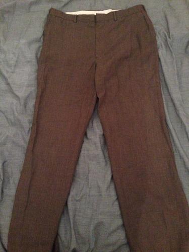 Pantalon De Vestir O Trabajo Gris De Haggar Para Hombre