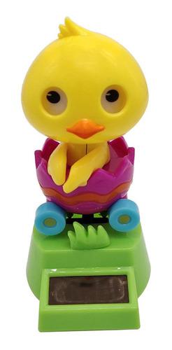 Solar Powered Dancing Yellow Duck Na Figura Do Balanço Do