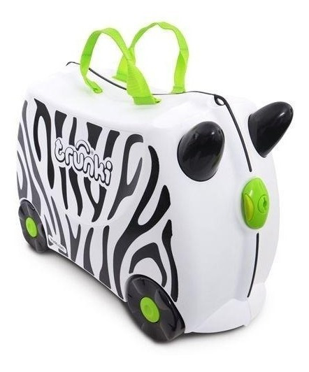 Mala Viagem Infantil Com Rodinhas E Alças Zebra Zimba Trunki