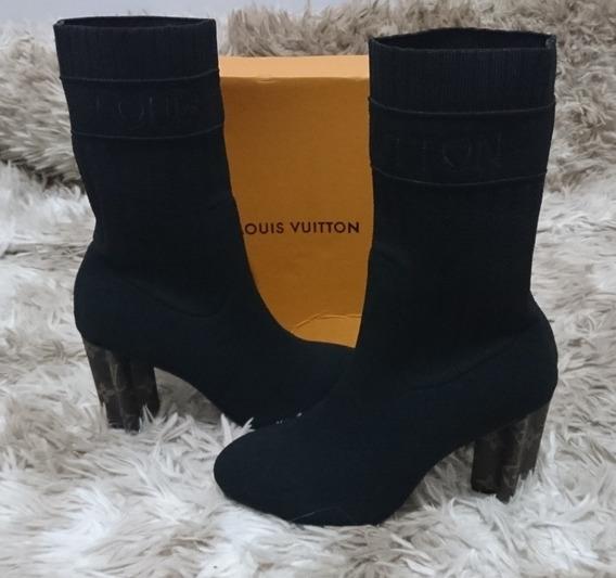 Bota Meia Louis Vuitton Ankle Boot Silhouete 36