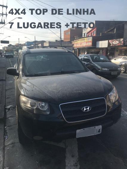 Hyundai Santa Fé 4x4 Top De Linha 7 Lugares+ Teto