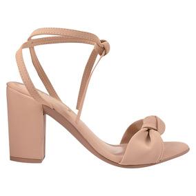 f088f2d83 Sandalia Salto Grosso Nude - Sandálias para Feminino no Mercado ...