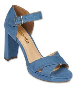 Calzado Dama Mujer Zapatilla Tipo Gamuza Mezclilla Comodo