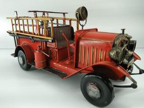 Bombeiro Miniatura Caminhão Antigo Decoração Frete Grátis