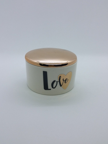 Porta Joia Rose Gold Love