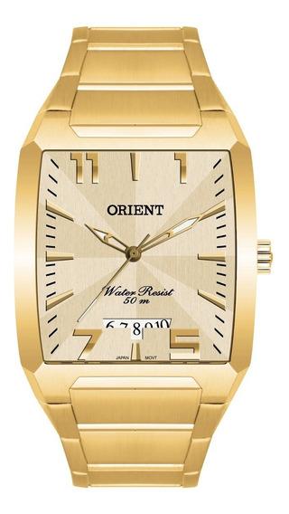 Relógio Orient Masculino Ggss1007 C2kx Dourado Quadrado