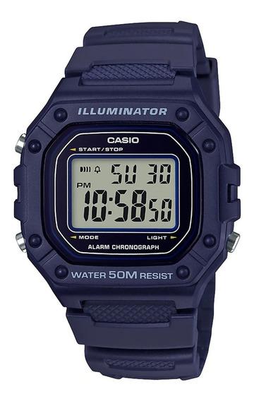 Casio W-218h-2avcf Reloj Illuminator Deportivo Para Caballer