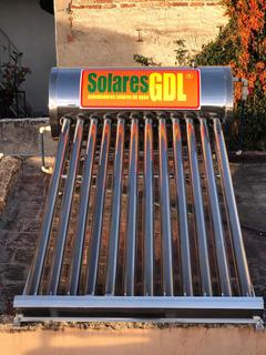Calentador Solar De Agua 12 Tubos Sin Elevar Tinaco