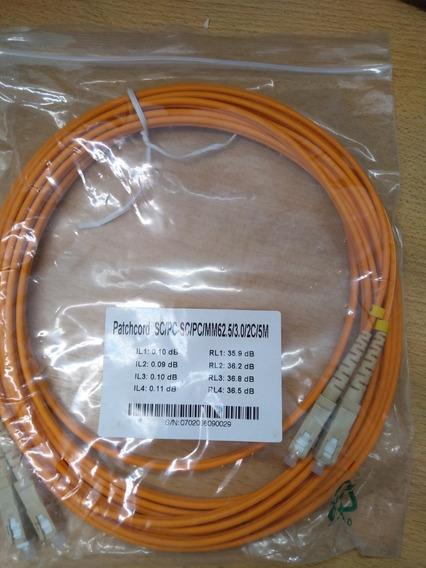 Patchcord Fibra Optica Dx Sc/pc - Sc/pc Mm 62,5 5mts