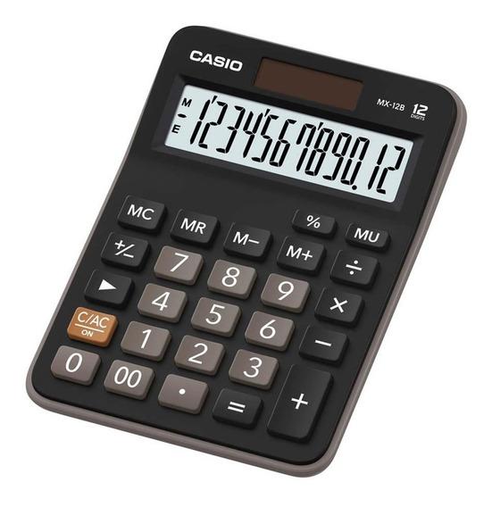 Calculadora Mesa Casio 12 Dígitos Bateria Solar Preta