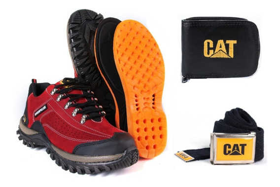 2 Bota Adventure Original Caterpillar +carteira + Cinto Top
