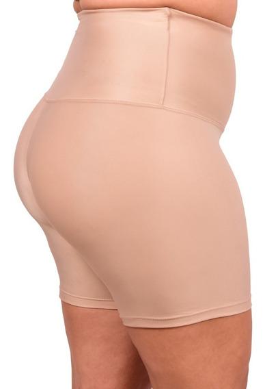 Shorts Modelador Less Now Cintura Alta Plus Size Do G1 Ao G3