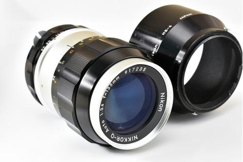 Lente Nikon 135mm F/ 3.5 Pré - Ai Nikkor Fx Manual