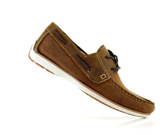 Mocasín Zapato Cuero Hombres 141004-07 Pegada Luminares