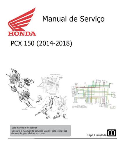 Imagem 1 de 1 de Manual De Serviço - Honda Pcx 150 (2014-2018)