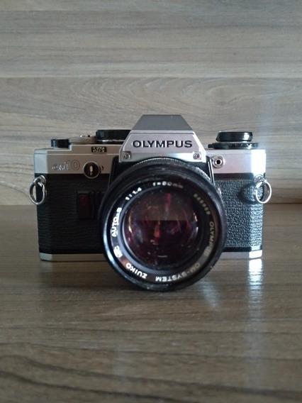 Câmera Analógica Rara Olympus Om10