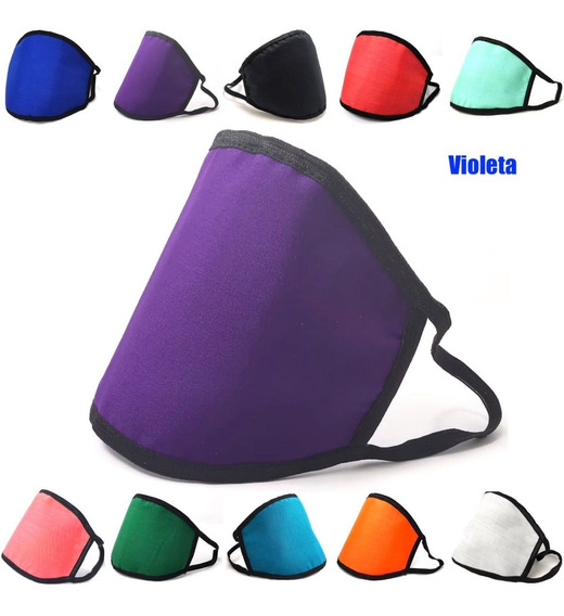 Cubrebocas Triple Capa Reusable Lavable Tapaboca Colores