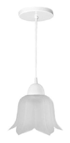 Lámpara Candil Techo Flor Vidrio Mate Interior Maxxi