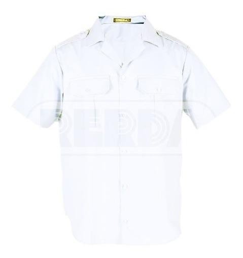 Camisa Manga Uniforme Blanca Rerda T:46-50 En Cuotas