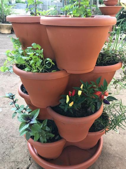 Horta Jardim Vertical Ceramica Plantas Apto Varanda Cozinha