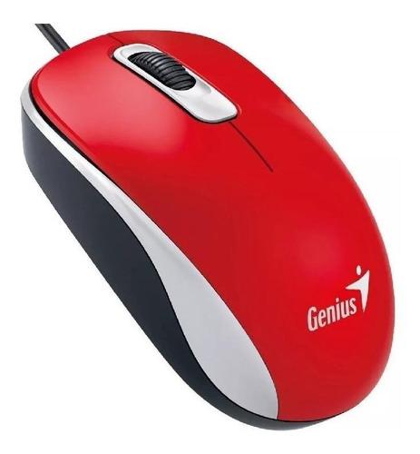 Imagen 1 de 3 de Mouse Genius  DX-110 USB rojo pasión