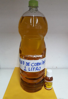 Óleo Copaiba Pura 1 Lt + Brinde (40ml Óleo Andiroba)f.gratis