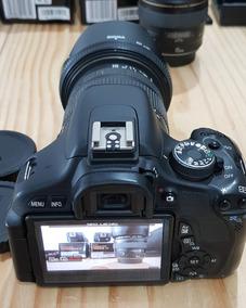 Canon T3i Mais Sigma 2.8 17-50 E 3 Baterias C 2 Carregadores