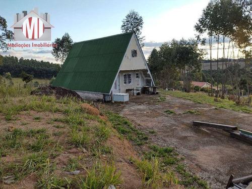 Imagem 1 de 30 de Chalé Simples Em Amplo Terreno, Lugar Alto Com Linda Vista Em Pedra Bela - Ch0997