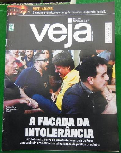 Esperar algo Caucho cooperar  Revista Veja 2599 Facada No Bolsonaro Museu Nacional 2018 | Mercado Livre