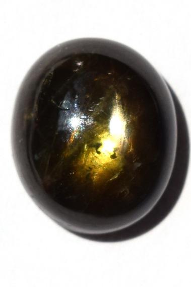 Bonito Zafiro Estrella Negro Natural 8.4ct Calidad Media