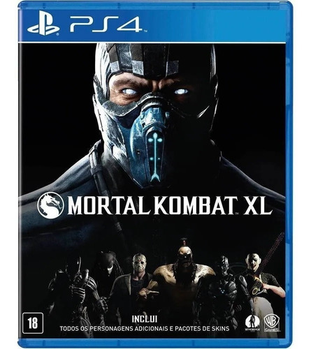 Mortal Kombat Xl Ps4 - Midia Fisica Lacrado - Portugues Novo