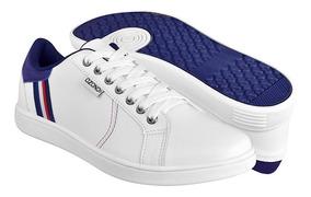 Tenis Clásicos Para Caballero Capa De Ozono 395301-3 Blanco