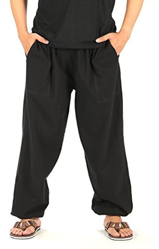 Pantalones De Yoga Para Hombre Cintura Elástica
