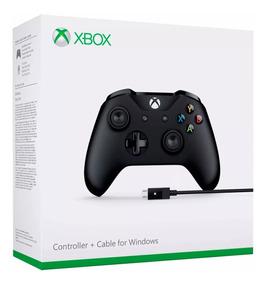 Controle Wireless Xbox One S Preto + Cabo Windows Microsoft