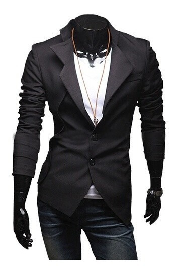 Sacos Juveniles Hombre Slim Fit Moda Oriental Corte Japonés