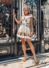 Vestido Est. Excl. Conchas Do Mar + Cinto_ Perfect Way
