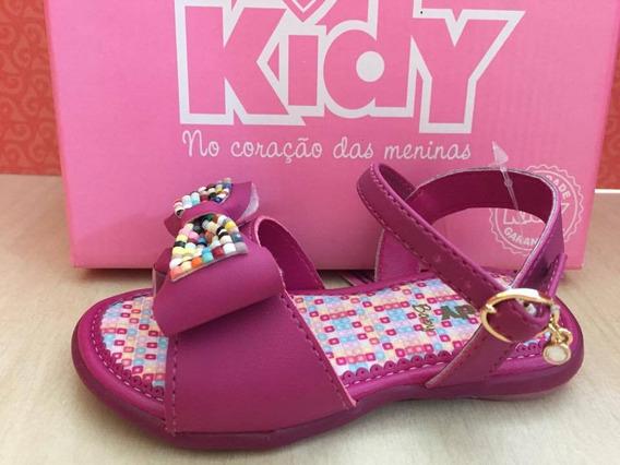 20615 Sandália Kidy Baby Com Laço - Açai - 18 Ao 24