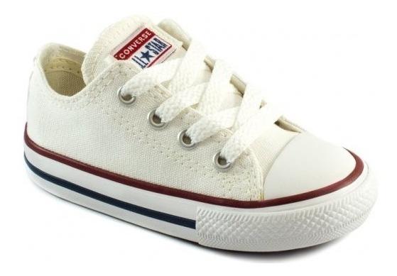 Tênis All Star Converse Kids Branco E Preto Ck0001 -original