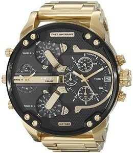 Relógio Diesel Dz7333 Mr. Daddy 2.0 Dourado 57 Mm