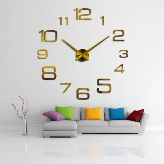 Relógio De Parede 3d Formato De Numeração Variada De Tamanho