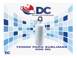 Botella Termo Para Sublimar Blanco 600 Ml Paq 30 Pzas