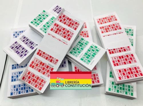 Talonario De Bingo Serie 2016 Cartones Loteria Descartables