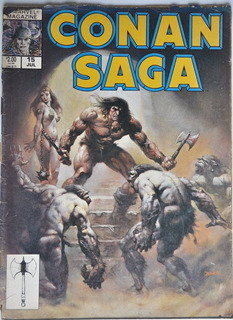 Conan Saga Barbaro N 15 Marvel Magazine 1988 Comic Ingles