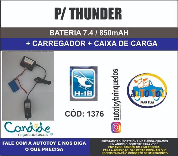 Thunder 1376 H-18 - Bateria7.4v 850mah + Carregador + Caixa